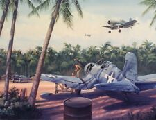"""""""Pacific Airbase"""" Jim Laurier S/N Archival Print - Somewhere in the Solomons"""