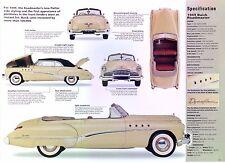 1949 Buick Roadmaster Convertible 320 ci Inline 8 Cyl IMP Info/Specs/photo 11x8