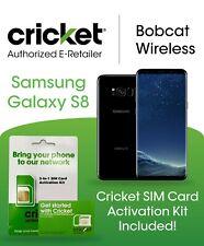 Samsung Galaxy S8 G950U 64Gb Black Includes Cricket Wireless Sim Card Kit