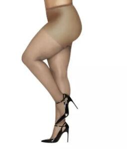 Hanes Curves Ultra Sheer Pantyhose, Tan/Beige, Size: 1X-2X