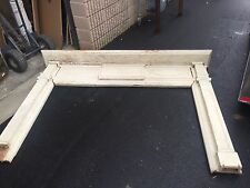 c1880 antique Classic design wooden mantle fireplace surround Bow & Swag 8' X 67