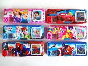 Cartoon Princess Stationery Box Pencil Case + Calculator / Sharpener Girls Boys