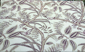 Lavender Butterfly Trees Toile B Canvas Fabric by the yard