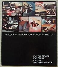 MERCURY USA Car Sales Brochure 1970 #M70109 CYCLONE SPOILER/GT Cougar Eliminator
