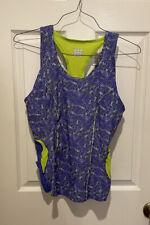 ZOOT Core Tri Triathlon Tank Top + Built-In Bra Women's XL Cycling Jersey Floral