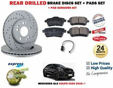 FOR MERCEDES BENZ GLE Coupe 350d 4-matic REAR BRAKE PADS + DISCS + WEAR LEAD
