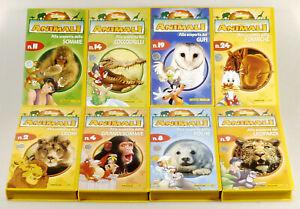 PRL) IL MAGICO MONDO DEGLI ANIMALI DISNEY CASSETTE 8 VHS DE AGOSTINI LOTTO