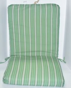 Outdoor Patio Chair Cushion ~ Spicy Lime Stripe ~ 21.5 x 44 x 2.25 **NEW**
