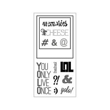 """Fiskars Clear Stamps 4"""" x 8"""" - Say Cheese - You Only Live Once, Polaroid, Photo"""
