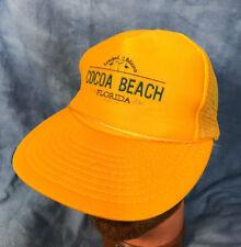 Vtg Cocoa Beach Florida Hat Travel Tourist Souvenir Vacation Beach Trucker Hat