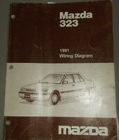 1991 Mazda 323 Wiring Diagram Manual Shop Repair