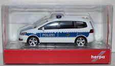 """Herpa VW Sharan /""""Bundespolizei/"""" 094283-1:87 blau-weiss"""