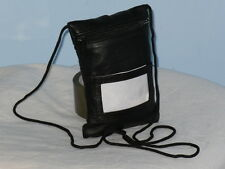 A Soft Leather Neck Purse With Clear Window At Rear And 3 Zip Pockets.