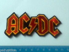 PUNK ROCK HEAVY METAL MUSIC SEW ON / IRON ON PATCH:- AC/DC RED YELLOW LIGHTNING