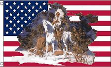 USA RED INDIAN CHIEF 5x3 feet FLAG 150cm x 90cm flags NATIVE AMERICAN