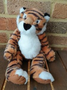 Vintage Russ Berrie Heartcraft Collection Tickles The Tiger Weighted Plush EUC!
