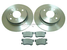 for HONDA PRELUDE 2.0 2.2 2.3 1993-1997 REAR 2 BRAKE DISCS AND PADS NEW (4STUD)
