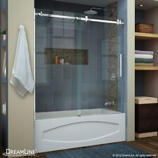 "DREAMLINE ENIGMA AIR 56""-60"" X 62"" SLIDING TUB DOOR, 3/8"" CLEAR GLASS/POLISHED"