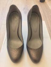 SERGIO ROSSI Lizard Snake Skin Grey Stilettos UK size 5 (size 38) RPP £860