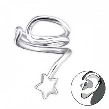 925 Sterling Silver  Ear Cuff with Star