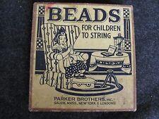 Vintage BEADS for Children to String PARKER BROTHERS Salem MA (AB393)