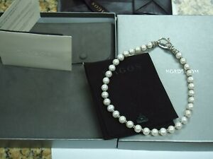 """Lagos 9 mm Pearl & Sterling Silver 16"""" Necklace with Box & Papers"""