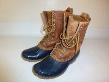 """L.L. Bean Duck Boots Women's Blue Leather Lace-up 8"""" - US 7 M"""