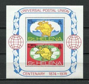 23416) S. HELENA MNH** Nuovi** 1974 UPU S/S