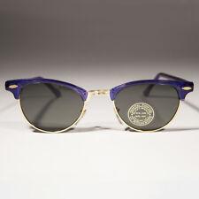 Bleu Demi Monture Vintage Lunettes de Soleil - Hedy