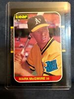 1987 Donruss Leaf #46 Mark McGwire Oakland Athletics. Rated Rookie. RC.