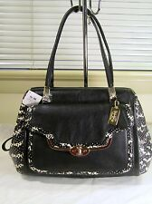 NWT Coach 27841 Madison Madeline E/W Satchel in Two Tone Python Embossed $498