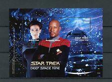 Guyana 2015 MNH Star Trek Deep Space Nine 1v SS Benjamin Sisko Jadzia Dax Stamps