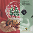 2007 Christmas Coin Set with Colourized Quarter