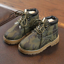 UK Kids Camouflage Toddler Boys Winter Snow Ankle Boots Casual Boots Warm Shoes