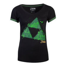 NINTENDO Legend of Zelda Triforce Splatter T-Shirt Large Black (TS782480ZEL-L)