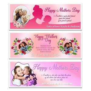 PERSONALISED MOTHERS DAY QUOTE PHOTO BANNER PINK WALL DECORATION MOM MOTHER