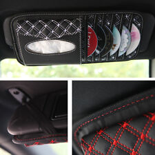 high quality PU leather 3In1 Car CD Case Receive Bag 6 CD clip For CD Holders
