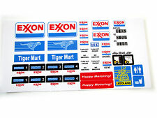 STICKERS for CUSTOM LEGO 6375 6397 7993 Exxon Service Gas Station BUILDS, Etc