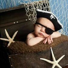 Baby Strickmütze Neugeborenen Fotoshooting Fotografie Mütze Kostüm Pirat Pr Z6M1