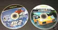 NEED FOR SPEED HOT PURSUIT 2 ATV 2 QUAD POWER RACING Two (2) Game Only Lot Xbox