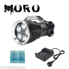 5x CREE XML T6 LED Flashlight Torch+ 4x18650 Battery Wall Charger Rechargeable