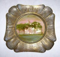 "ANTIQUE MOTHER OF PEARL 5 1/2 "" DISH BARTON ACADEMY MOBILE ALABAMA"
