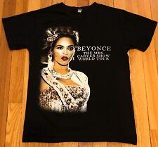 Beyonce 2013 The Mrs. Carter Show World Tour Black T-Shirt Size Small Free Ship