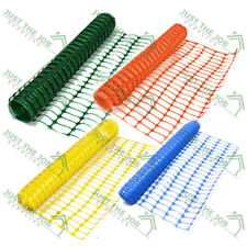 More details for plastic mesh barrier safety fence 1m x 5,10,50 & 100m green blue yellow orange