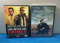 PACK 2 PELICULAS DVD ESPAÑOL - REYES DEL CRIMEN BAILANDO CON LOBOS
