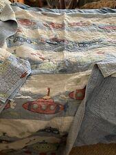 Vintage Pottery Barn Kids Submarine quilt & accessories