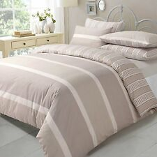 Duvet Cover & Pillow Case Bedding Pollycotton Set NATURAL EVE SUPER KING