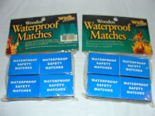 Wilcor Waterproof Safety Matches, 300+ Wooden Fire Starters 8 Boxes