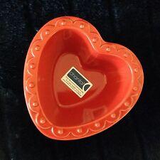 NEW Chantal RED HEART Hobnail Ramekin Baking Candy Dish 1 Cup