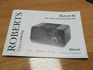 Roberts Blutune 40 Original Instruction User Manual